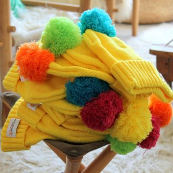Le bonnet à pompon multico