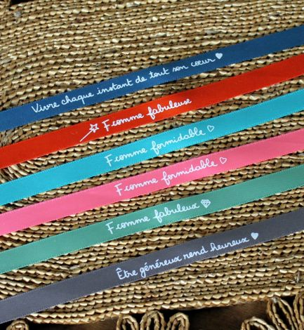 Bracelets en satin à nouer